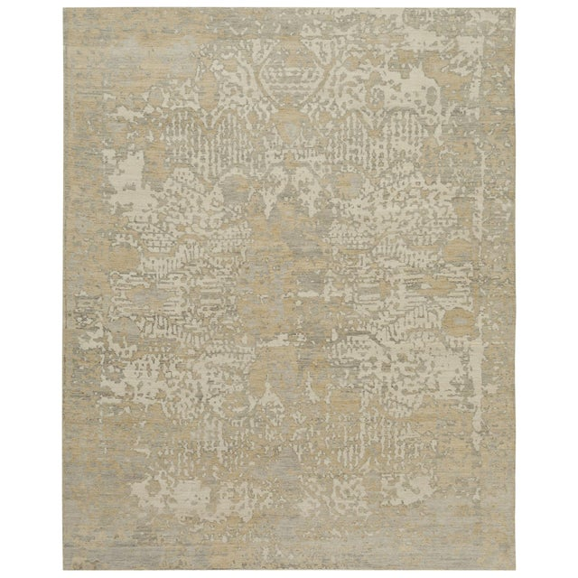 French Earth Elements - Customizable Nude Mist Rug (12x15) For Sale - Image 3 of 3