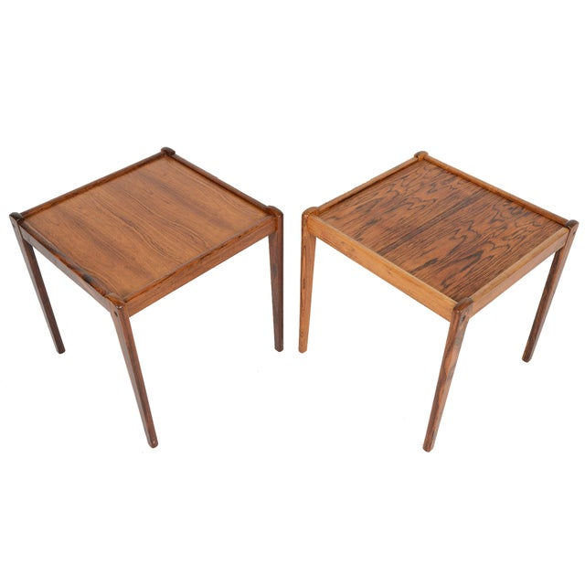 Danish Modern Rosewood Side Tables - A Pair - Image 1 of 6