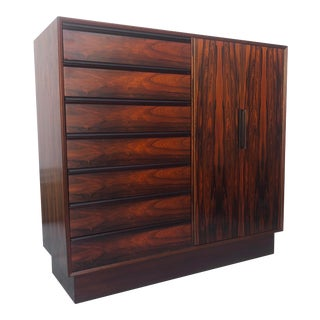 Mid-Century Modern Rosewood Armoire by Westnofa For Sale