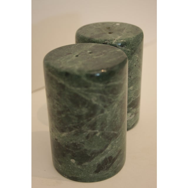 Modernist Sculptural Marble Salt & Pepper Shakers - A Pair For Sale - Image 5 of 6
