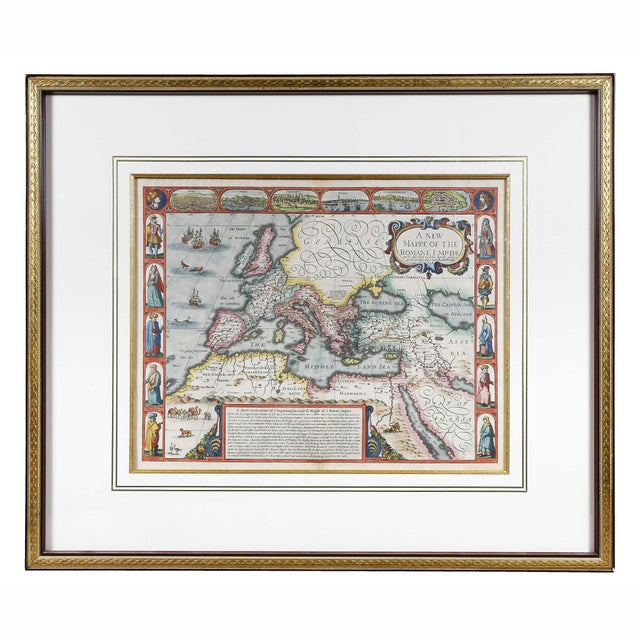 Framed Map of Roman Empire For Sale - Image 11 of 11