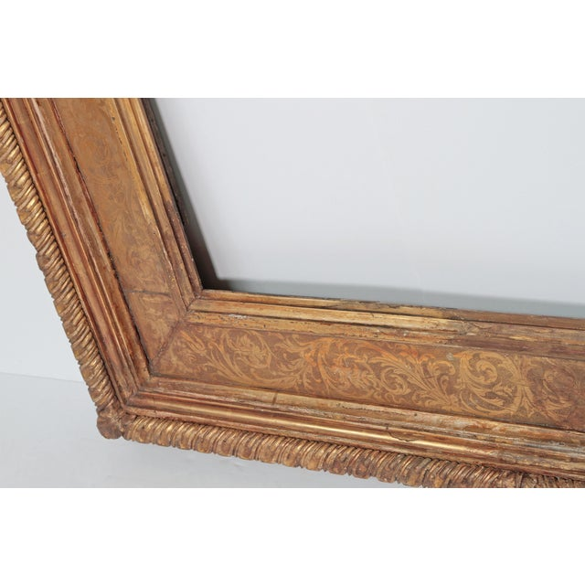 Giltwood Monumental Hand-Carved and Gilded Florentine Picture Frame For Sale - Image 7 of 11