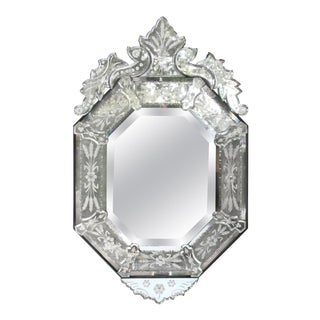 Venetian Style Glass Mirror For Sale
