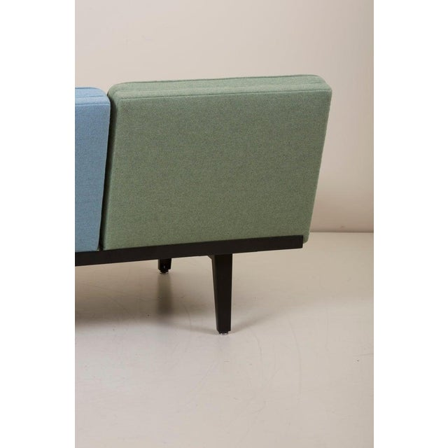 """Blue """"Steel Frame"""" Sofa by George Nelson for Herman Miller For Sale - Image 8 of 13"""