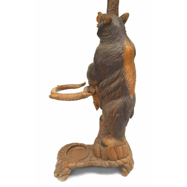 Rustic Black Forest '19th Century' Walnut Hat Rack or Umbrella Stand For Sale - Image 11 of 12