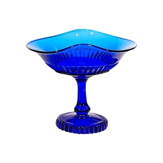 1950s Cobalt Glass Compote