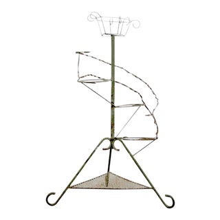 Vintage Tiered Metal Plant Stand Display For Sale