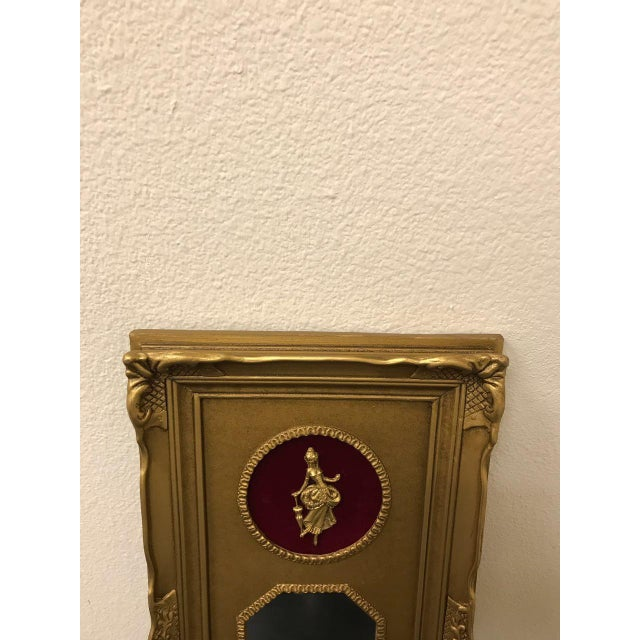 Vintage Neoclassical Gold Gilded Frame Trumeau Mirror For Sale - Image 9 of 10