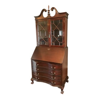 Antique Maddox Tables Mahogany Secretary Desk For Sale