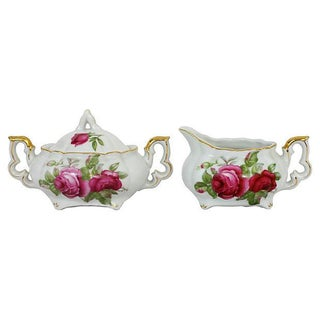 Lefton China Sugar & Creamer - A Pair