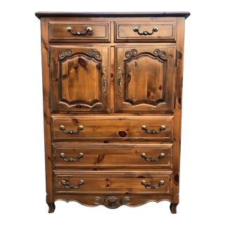 Ethan Allen Normandy Pine Gentleman's Chest For Sale