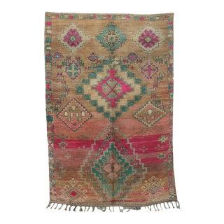 "Boujad Vintage Moroccan Rug, 6'8"" X 10'0"" For Sale"