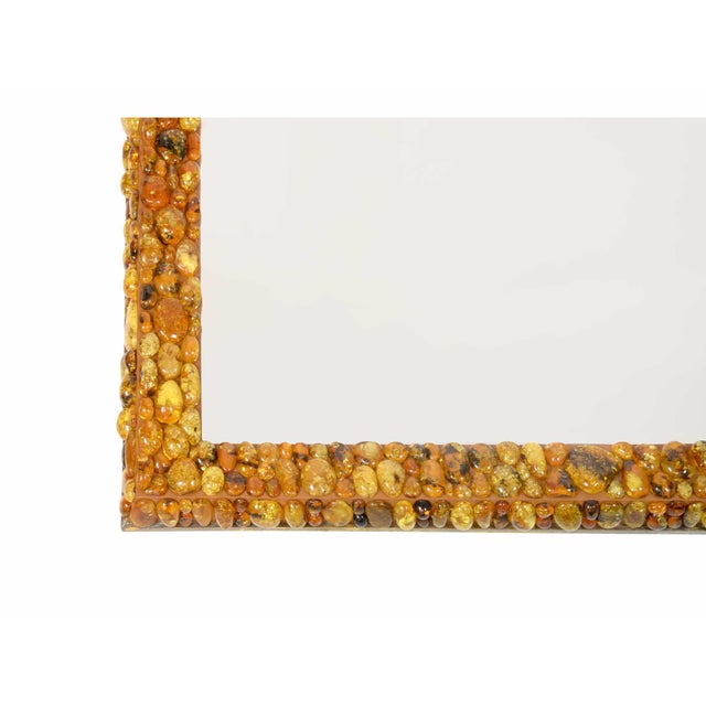 KAM TIN Amber mirror Wall mirror covered with amber cabochons Amber, mirror glass France, 20176