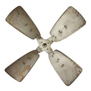 Vintage Industrial Metal Propeller For Sale