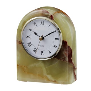 Marbled Green Desk Clock