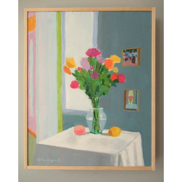 A lovely bouquet of flowers in the morning light. Painted with Henri Matisse on my mind. This painting is acrylic on...