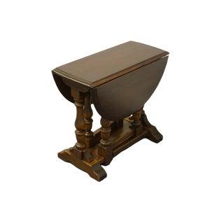 Ethan Allen Royal Charter Oak Drop Leaf Accent End Table - 16-8002 For Sale