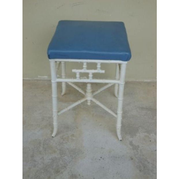 1970s 1970s Chinese Chippendale Metal Stool For Sale - Image 5 of 6