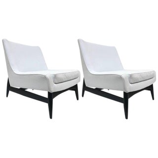 Pair of Paul McCobb Style Lounge Chairs For Sale