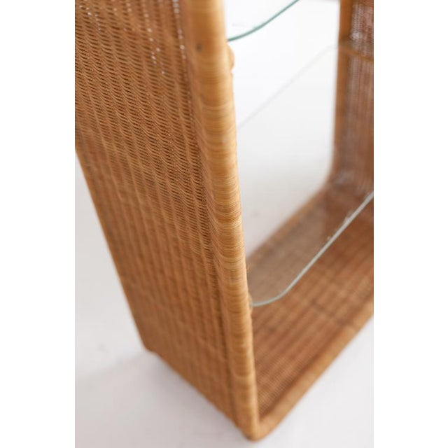 Beautifully crafted in a simplistic design, modern clean lines. Wicker is in excellent condition.