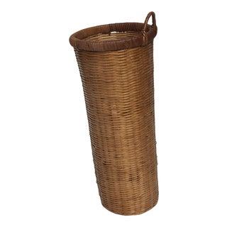 Vintage French Bottle Basket For Sale