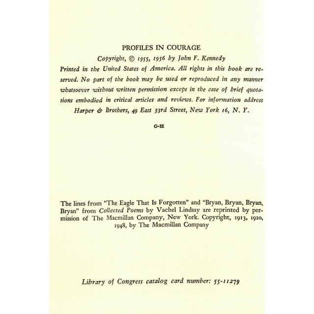 """Mid-Century Modern 1956 """"Profiles in Courage"""" Collectible Book For Sale - Image 3 of 6"""