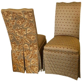 Hollywood Regency Style Side Chairs - a Pair