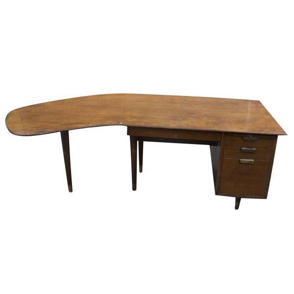 Standard Mid Century Boomerang Desk For Sale