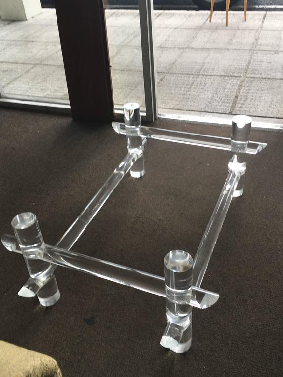 Captivating Vintage Hollywood Regency Lucite Faux Bamboo Coffee Table   Image 7 Of 11