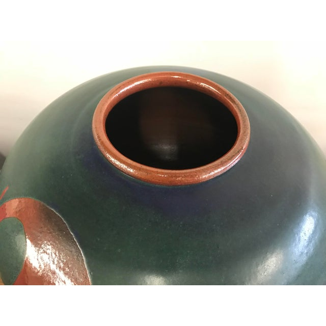 1990s Heath Krieger Studio Pottery Contemporary Southwest Ceramic Olla Pot For Sale - Image 5 of 7