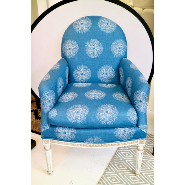 Pair of Blue French Chairs For Sale In New York - Image 6 of 8