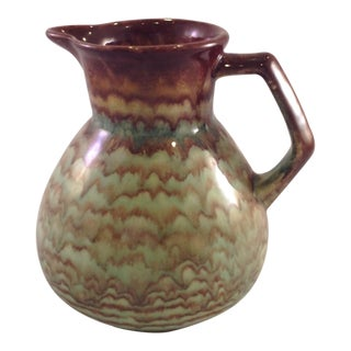 1970s Vintage German Mocha Glazed Pitcher