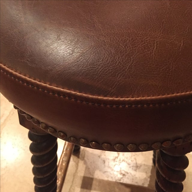 Custom Walnut Barley Twist Bar Stool - Image 11 of 11