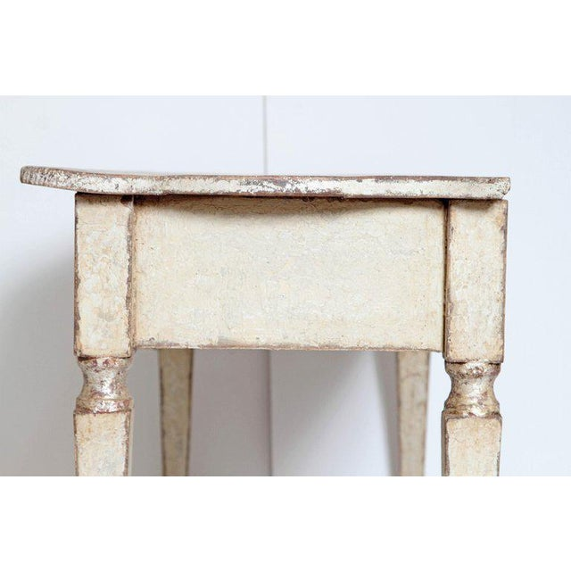 White Pair of French Painted and Gilt Console Tables For Sale - Image 8 of 9