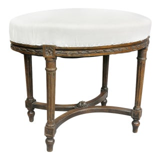 Louis XVI Style Beech Footstool For Sale
