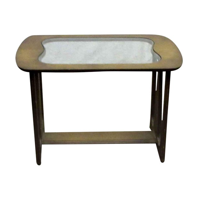 Mid-Century Style Wood End Table For Sale