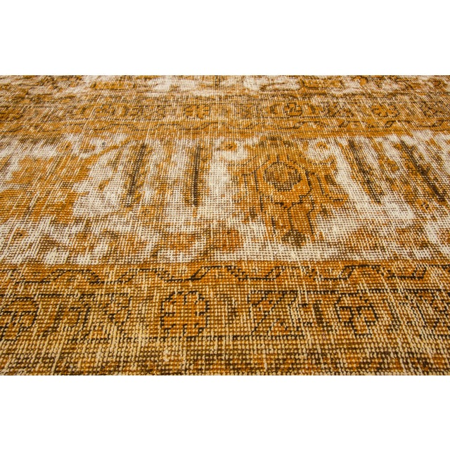 "Apadana Yellow Overdyed Rug - 10' X 12'7"" - Image 4 of 5"
