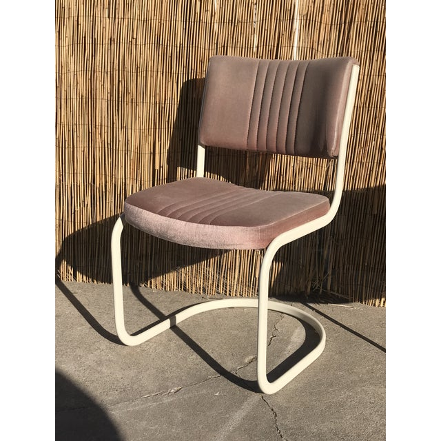 1960s Vintage Marcel Breuer by Knoll Pink Dining Chairs- 4 Pieces For Sale In Sacramento - Image 6 of 8