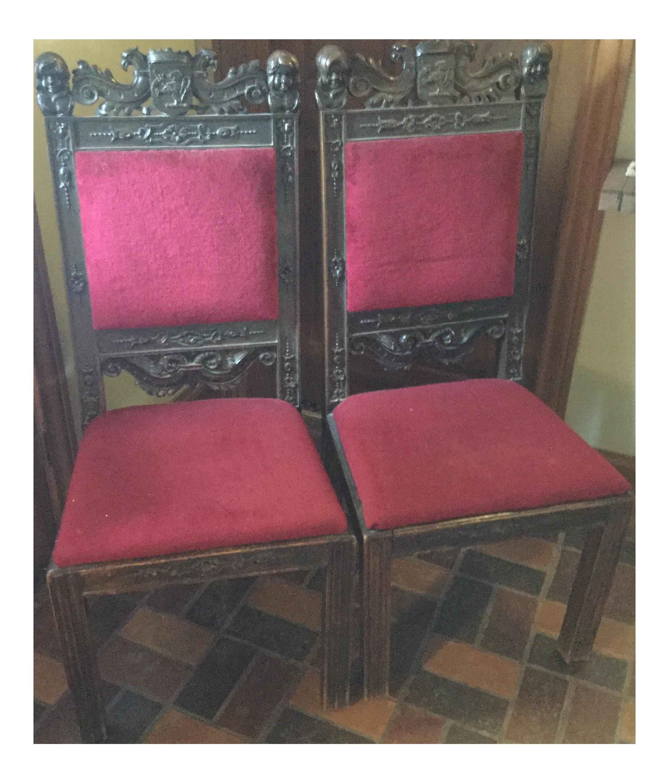 Primitive Bavarian Chairs, 1800s   A Pair