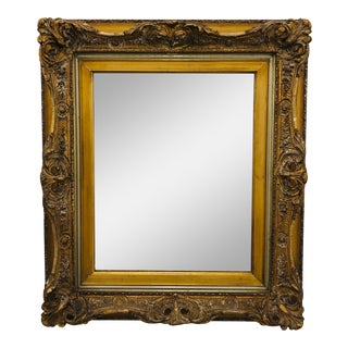 Antique Carved Giltwood Mirror For Sale