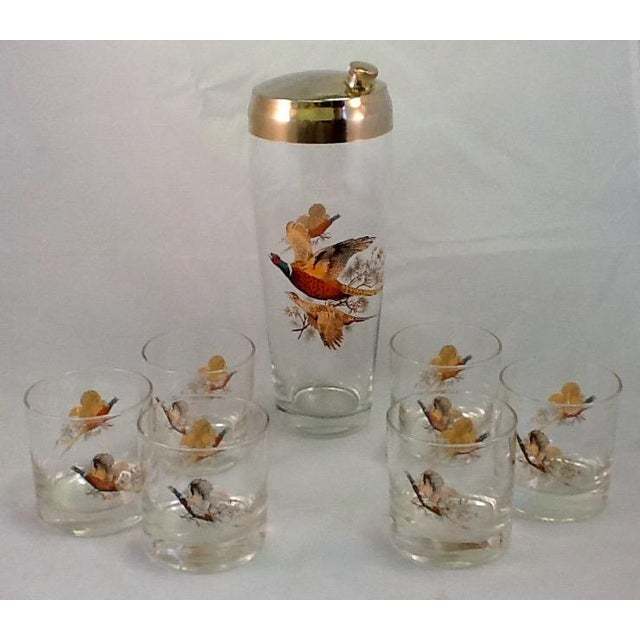 Mid-Century Cocktail Shaker & Glasses - Set of 7 - Image 2 of 5