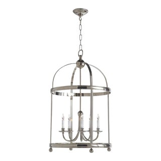 Traditional Edwardian Arch Top Large Lantern Light in Polished Nickel by Visual Comfort For Sale