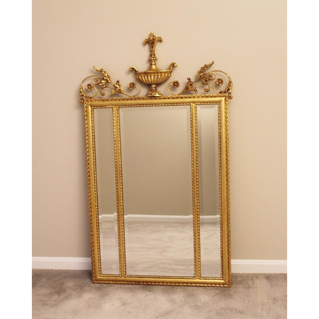 1980s Neoclassical LaBarge Ornate Style Mirror For Sale - Image 11 of 11