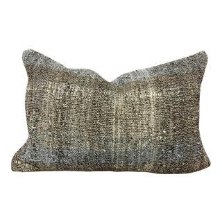 Turkish Hand Woven Anatolian Organic Lumbar Pillow For Sale
