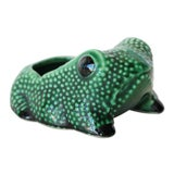 Image of Chinese Vintage Hobnail Frog Planter in the Style of Jean Roger For Sale