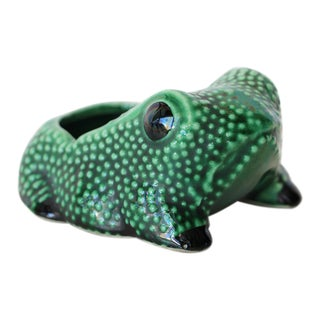 Chinese Vintage Hobnail Frog Planter in the Style of Jean Roger For Sale