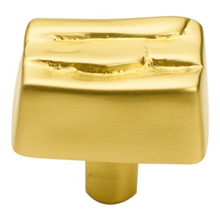Steps Pull - Satin Brass - Small For Sale