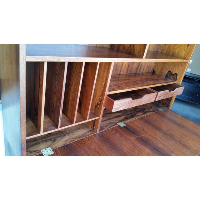 Brass 1960's Carlo Jensen Rosewood Wall Unit for Hundevad & Co For Sale - Image 7 of 12