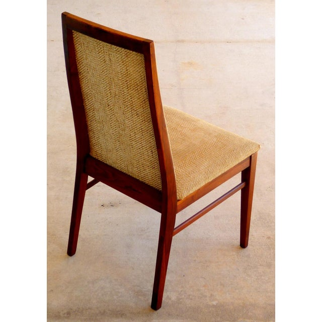 Dillingham Mid-Century Walnut Dining Chairs - Set of 6 - Image 8 of 9