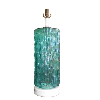 Teal Blenko Table Lamp